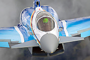 German luftwaffe Eurofighter Typhoon a twin-engine, canard–delta wing, multirole fighter. The Typhoon was designed originally as an air superiority fighter.  Photographed at Royal International Air Tattoo (RIAT)