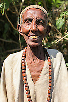 An age old priestess on the way to Bahir Dar, Ethiopia.