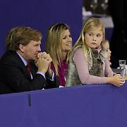 NLD/Amterdam/20120121 - Willem Alexander, Maxima en kinderen Catharina-Amalia, Alexia, Ariane bij Jumping Amsterdam 2012,