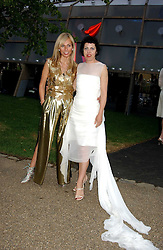 Left to right, MARGUERITA WENNBERG and ISABELLA BLOW at the annual Serpentine Gallery Summer Party co-hosted by Jimmy Choo shoes held at the Serpentine Gallery, Kensington Gardens, London on 30th June 2005.<br />