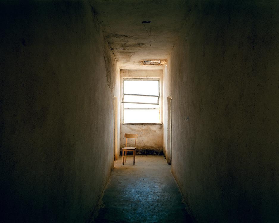 Kalivia. Chair in the corridor of the school.