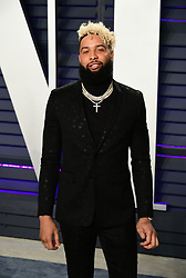 Odell Beckham Jr attending the Vanity Fair Oscar Party held at the Wallis Annenberg Center for the Performing Arts in Beverly Hills, Los Angeles, California, USA.