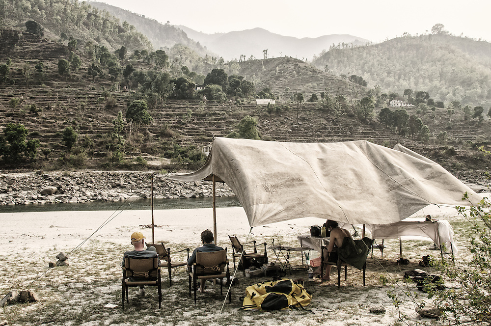 Riverside camp.