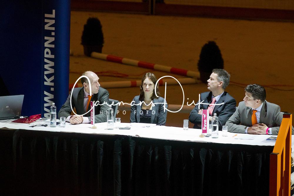 Knaap Johan, Ilse van Grevenhof, Rob Krabbenborg, Hans van Tartwijk<br /> KWPN Hengstenkeuring - 's Hertogenbosch 2012<br /> © Dirk Caremans
