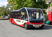 Pulhams bus service to Cirencester in Northleach, Gloucestershire, Cotswolds, England, UK