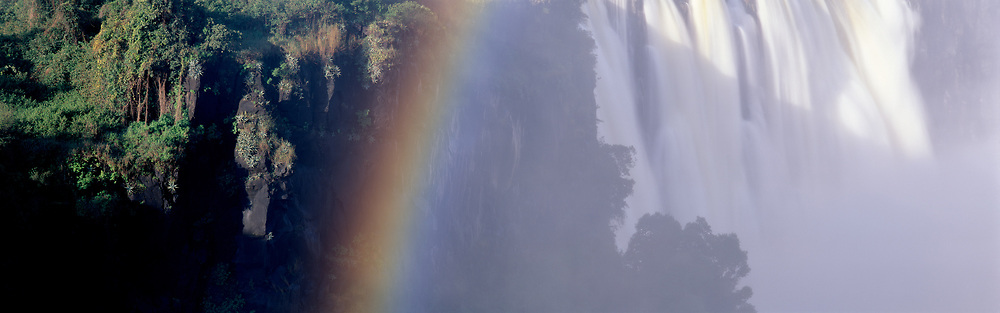Victoria Falls with rainbow and mist 1