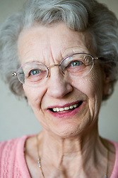Portrait of a older woman smiling,