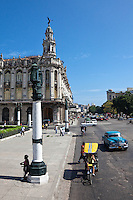 Streets near Parque Central and the Great Theatre in Havana.