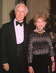 MR BRINSLEY & LADY MOOREA BLACK, at a dinner in london on 15th December 1998.MNA 18