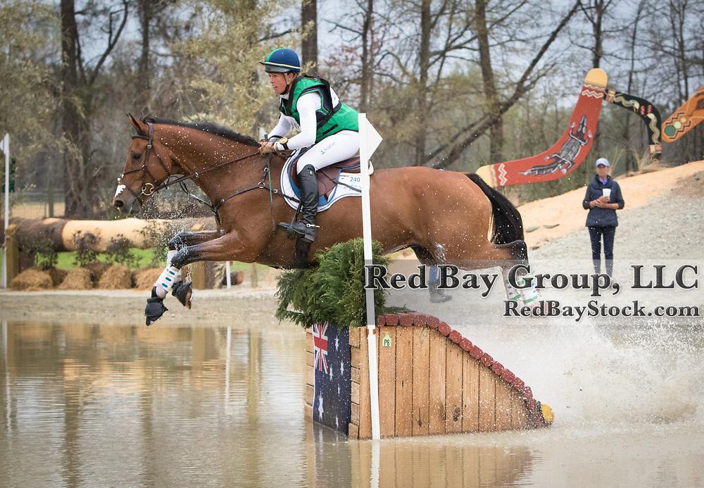 Kylie Lyman (USA) and Lup The Loop at the Carolina International Horse Trials in Raeford, North Carolina.