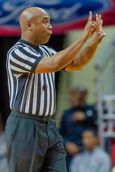 NORMAL, IL - February 05:  Referee Ervin Wilson during a college basketball game between the ISU Redbirds and the Valparaiso Crusaders on February 05 2019 at Redbird Arena in Normal, IL. (Photo by Alan Look)