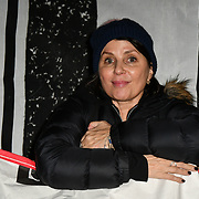 Sadie Frost join Sleep Out fundraiser to help homeless young people at Greenwich Peninsula Quay on 15 November 2018, London, UK.