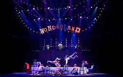 The Mad Hatter's Tea Party <br /> by Zoo Nation<br /> directed by Kate Prince<br /> presented by Zoo Nation, The Roundhouse & The Royal Opera House<br /> at The Roundhouse, London, Great Britain <br /> rehearsal <br /> 29th December 2016 <br /> <br /> <br /> <br /> <br /> Issac Turbo Baptiste<br /> as the Mad Hatter <br /> <br /> <br /> Bradley Charles as the March Hare <br /> <br /> <br /> Photograph by Elliott Franks <br /> Image licensed to Elliott Franks Photography Services
