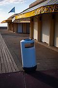 Boissons  -  rubbish bin, Les Planches, Deauville, Normandy, France