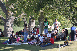 Fans enjoy the action during the Africa T20 cup pool D match between Boland and Gauteng held at the Boland Park cricket ground in Paarl on the 25th September 2016.<br /> <br /> Photo by: Shaun Roy/ RealTime Images
