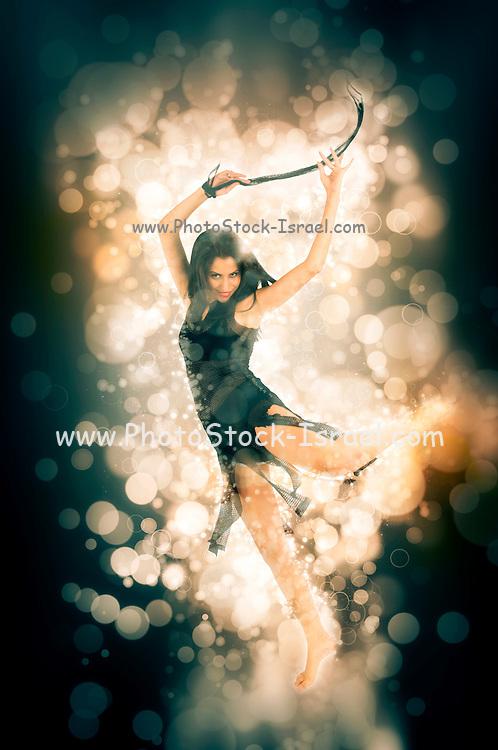 digitally enhanced image of a dancing Sexy woman