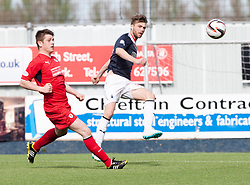 Falkirk's Rory Loy misses a shot.<br /> Falkirk 2 v 1 Raith Rovers, Scottish Championship game played today at The Falkirk Stadium.<br /> © Michael Schofield.