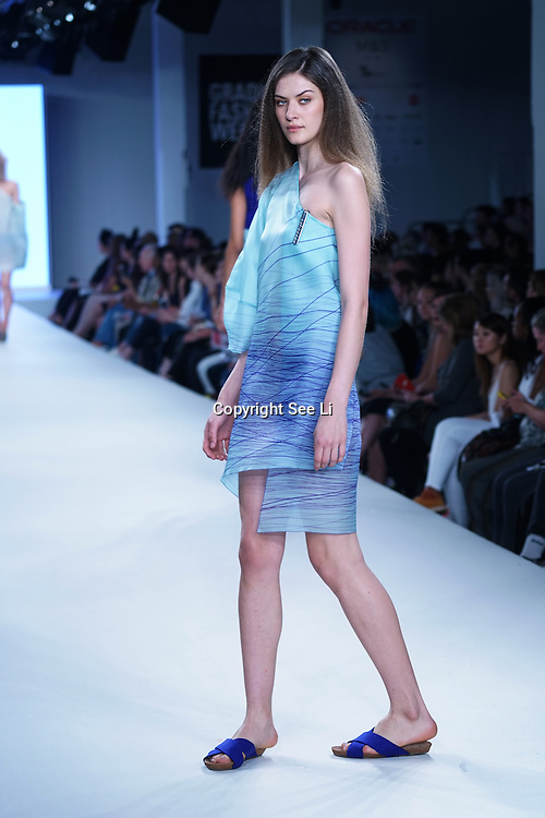 London,England,UK : 7th June 2016 : Graduate student Chloe White showcases their work at the GFW 25th Anniversary Day three show of Brighton University held at Truman Brewery, London. © See Li/Alamy Live