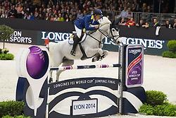 Ahlmann Christian (GER) - Aragon Z<br /> Longines FEI World Cup™ Jumping Final 2013/2014<br /> Lyon 2014<br /> © Dirk Caremans