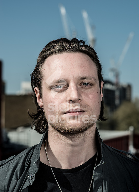 Hugo White, guitarist of indie band The Maccabees.<br /> Picture by Daniel Hambury/Stella Pictures Ltd +44 7813 022858<br /> 21/04/2015
