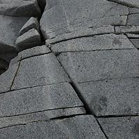 Cracked, glacier-polished granite at Damoy Point on Wiencke Island, Antarctica.