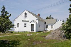 School house on Monhegan Island, Maine