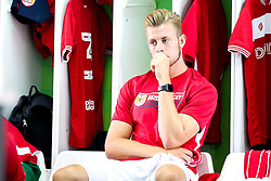 Adam Webster of Bristol City sits in the dressing room on arrival at The Marbella Football Centre, for the game against Rayo Vellecano - Mandatory by-line: Robbie Stephenson/JMP - 21/07/2018 - FOOTBALL - Marbella Football Centre - Marbella, England - Rayo Vallecano v Bristol City - Pre-season Friendly