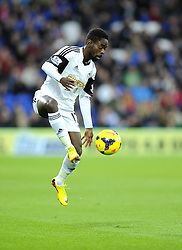 Swansea City's Nathan Dyer - Photo mandatory by-line: Joe Meredith/JMP - Tel: Mobile: 07966 386802 03/11/2013 - SPORT - FOOTBALL - The Cardiff City Stadium - Cardiff - Cardiff City v Swansea City - Barclays Premier League