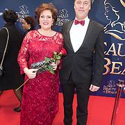 NLD/Scheveningen/20151213 - Premiere musical Beauty and the Beast, Marjolijn Touw en partner Roy
