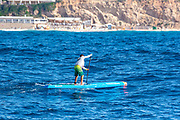 paddle boarding in the Mediterranean Sea, Israel