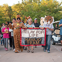 Navajo Nation President Jonathan Nez walked with Team Navajo at Relay for Life Friday, June 21 at McKinley County Courthouse Square in Gallup.