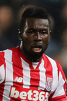 MIDDLESBOROUGH, ENGLAND - AUGUST 13: Mame Diouf of Stoke City during the Premier League match between Middlesbrough and Stoke City on August 13, 2016 in Middlesbrough. (Photo by Steve  Welsh/Getty Images)