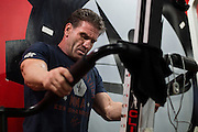 Ken Shamrock trains at The Studio in Dallas, Texas on January 19, 2016.