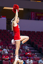 BLOOMINGTON, IL - September 28: Redbird Cheerleader during a college Women's volleyball match between the ISU Redbirds and the Southern Illinois Salukis on September 28 2019 at Illinois State University in Normal, IL. (Photo by Alan Look)