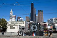 Vy över Seattle precis bredvid King Street Station.<br /> <br /> Foto: Christina Sjögren