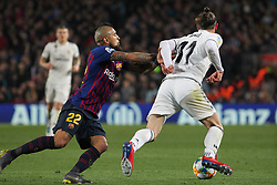 February 6, 2019 - Barcelona, BARCELONA, Spain - Gareth Bale of Real Madrid and Arturo VIdal of Barcelona in action during Spanish King championship, football match between Barcelona and Real Madrid, February 06th, in Camp Nou Stadium in Barcelona, Spain. (Credit Image: © AFP7 via ZUMA Wire)