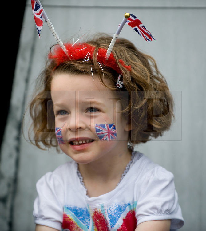 © Licensed to London News Pictures. 05/06/12.Saltburn, England...Residents of Eden Street in Saltburn by the Sea in Cleveland hold a street party as part of the Jubilee celebrations. . .The Royal Jubilee celebrations. Great Britain is celebrating the 60th  anniversary of the countries Monarch HRH Queen Elizabeth II accession to the throne this weekend Photo credit : Ian Forsyth/LNP