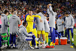 May 15, 2019 - Foxborough, MA, U.S. - FOXBOROUGH, MA - MAY 15: Chelsea FC midfielder Ross Barkley (8) and teammates get the crowd going during the Final Whistle on Hate match between the New England Revolution and Chelsea Football Club on May 15, 2019, at Gillette Stadium in Foxborough, Massachusetts. (Photo by Fred Kfoury III/Icon Sportswire) (Credit Image: © Fred Kfoury Iii/Icon SMI via ZUMA Press)