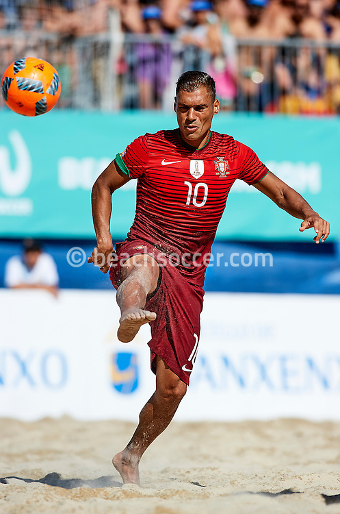 Portugal's Belchior in action during the Euro Beach Soccer League 2016 in Sanxenxo. (Photo by Manuel Queimadelos)
