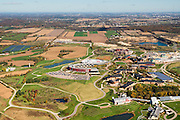 Aerial view of Epic Systems, the electronic health records business, on the east side of Verona, Wisconsin.