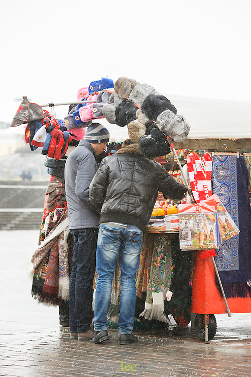 Street vendor in Red Square, Moscow. Russia