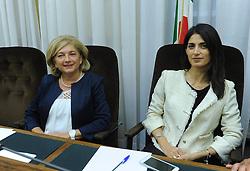 Italy, Rome - September 5, 2016 .Paola Muraro and Mayor of Rome Virginia Raggi (Credit Image: © Blow Up/Fotogramma/Ropi via ZUMA Press)