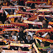 Galatasaray's supporters during their woman Euroleague group A matchday 5 Galatasaray between Lotos Gdynia at the Abdi Ipekci Arena in Istanbul at Turkey on Wednesday, November 09 2011. Photo by TURKPIX