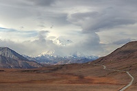 Road to Denali. Composite of seven images taken with a Nikon D3x camera and 85 mm f/2.8 PC-E lens.