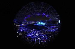 JAKARTA, Aug. 18, 2018  The opening ceremony of the 18th Asian Games is held at Gelora Bung Karno (GBK) Main Stadium in Jakarta, Indonesia, Aug. 18, 2018. (Credit Image: © Pan Yulong/Xinhua via ZUMA Wire)