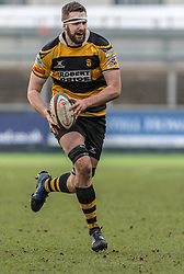 Newports' Dan Partridge in action during todays match.<br /> <br /> Photographer Simon Latham/Replay Images<br /> <br /> Principality Premiership - Newport v Ebbw Vale - Sunday 4th February 2018 - Rodney Parade - Newport<br /> <br /> World Copyright © Replay Images . All rights reserved. info@replayimages.co.uk - http://replayimages.co.uk
