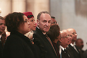 6 January 2010- New York NY-New York U.S. Senator Chuck Schumer at the Percy E. Sutton's Funeral held at The Riverside Church on January 6, 2010 in New York City. Photo Credit: Terrence Jennings/Sipa