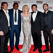 Nicole Evans and Casts crew attend Blackbird - World Premiere with Michael Flatley at May Fair Hotel, London, UK. 28th September 2018.