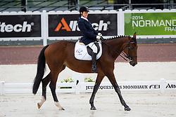 Nina Anufrieva, (RUS), Elastika - Team Competition Grade Ib Para Dressage - Alltech FEI World Equestrian Games™ 2014 - Normandy, France.<br /> © Hippo Foto Team - Jon Stroud <br /> 25/06/14