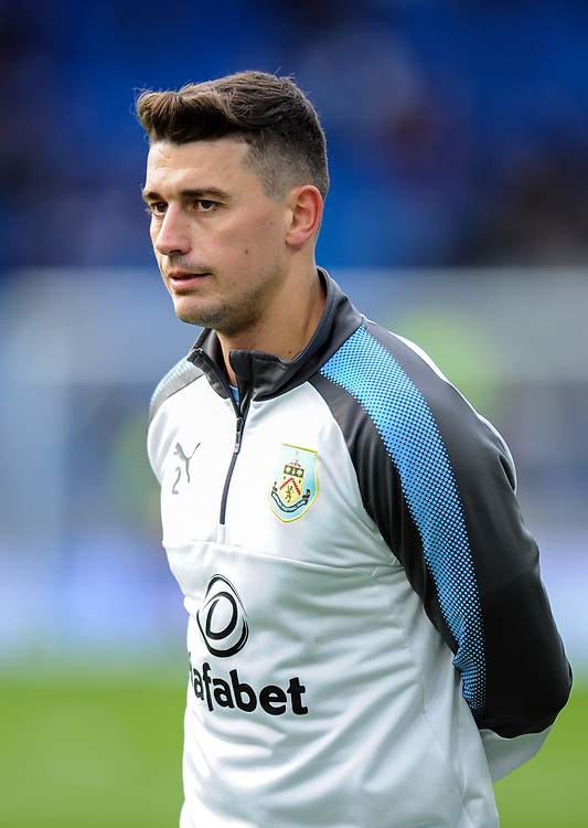 Burnley's Matthew Lowton during the pre-match warm-up <br /> <br /> Photographer Ashley Western/CameraSport<br /> <br /> The Premier League - Brighton and Hove Albion v Burnley - Saturday 16th December 2017 - The Amex Stadium - Brighton<br /> <br /> World Copyright © 2017 CameraSport. All rights reserved. 43 Linden Ave. Countesthorpe. Leicester. England. LE8 5PG - Tel: +44 (0) 116 277 4147 - admin@camerasport.com - www.camerasport.com